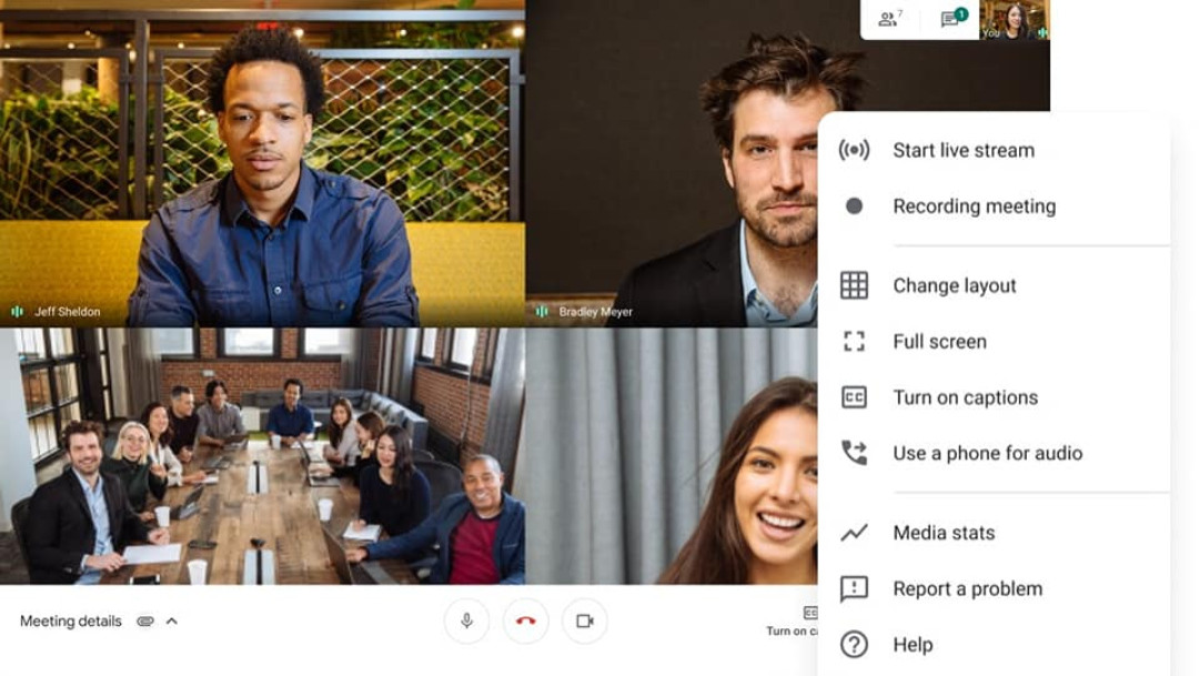 Imagen ilustrativa, Google Meet