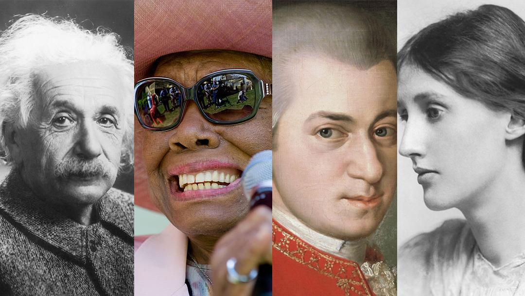 Collage grandes mentes de la historia