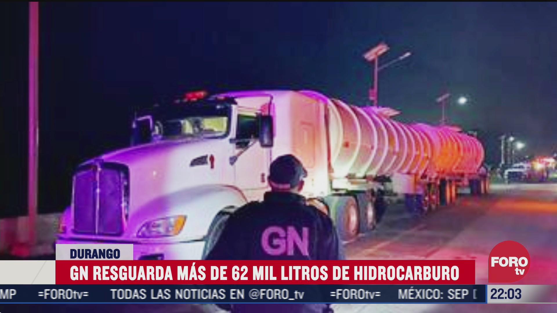 guardia nacional asegura camiones con combustible robado