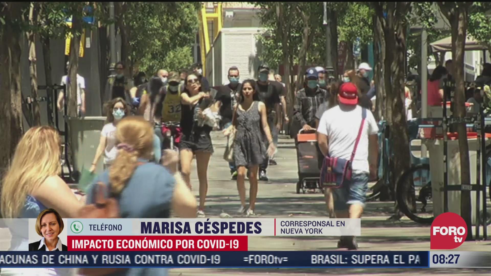 FOTO: 1 de agosto 2020, impacto economico en eeuu por covid