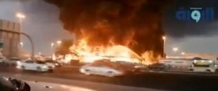 incendio en mercado de emiratos arabes unidos