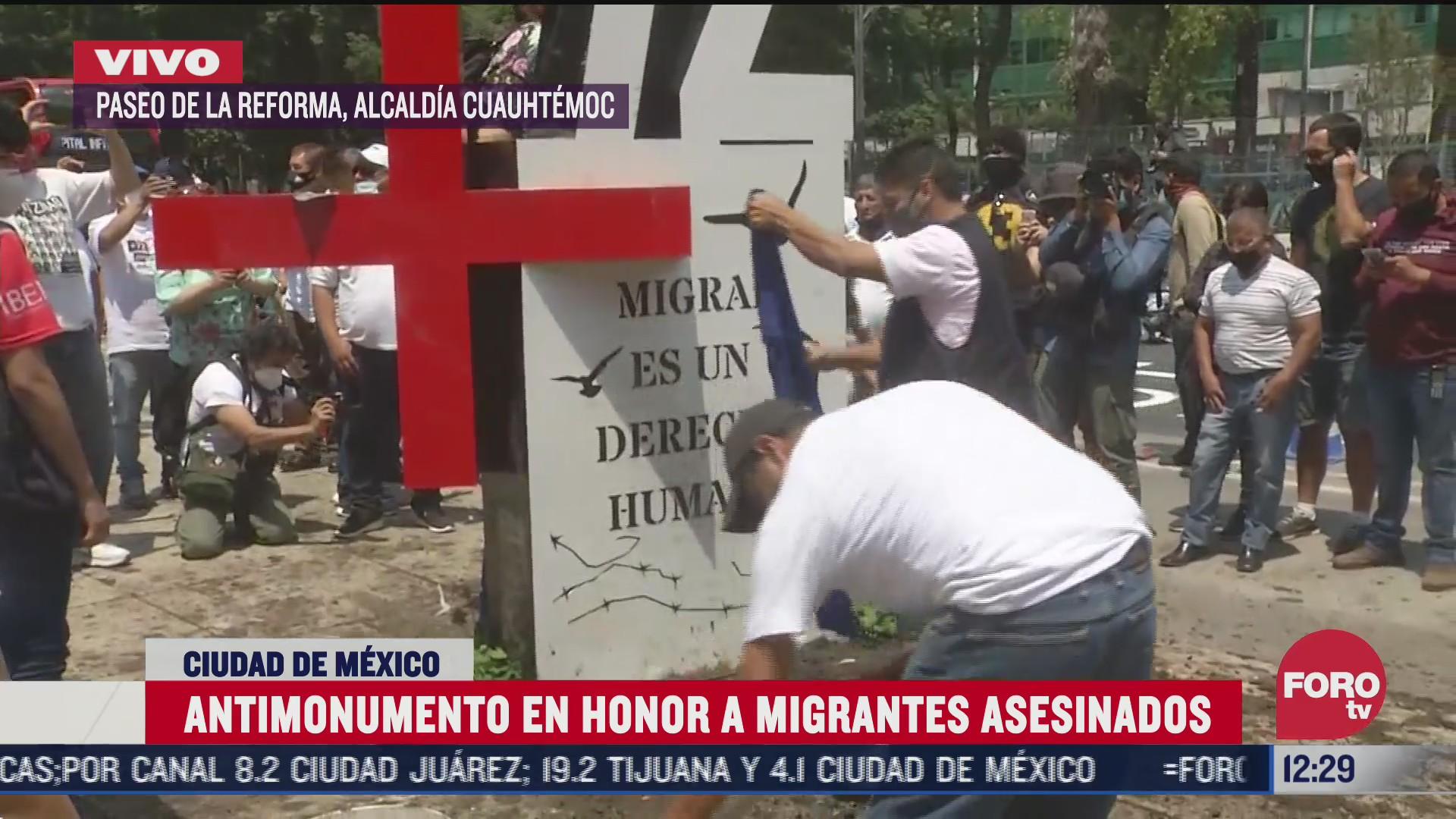 instalan antimonumento frente a embajada de eeuu