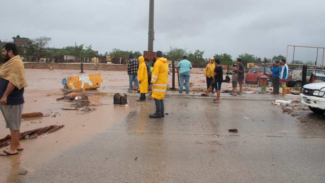 Lluvia e inundación en Los Cabos, Baja California Sur