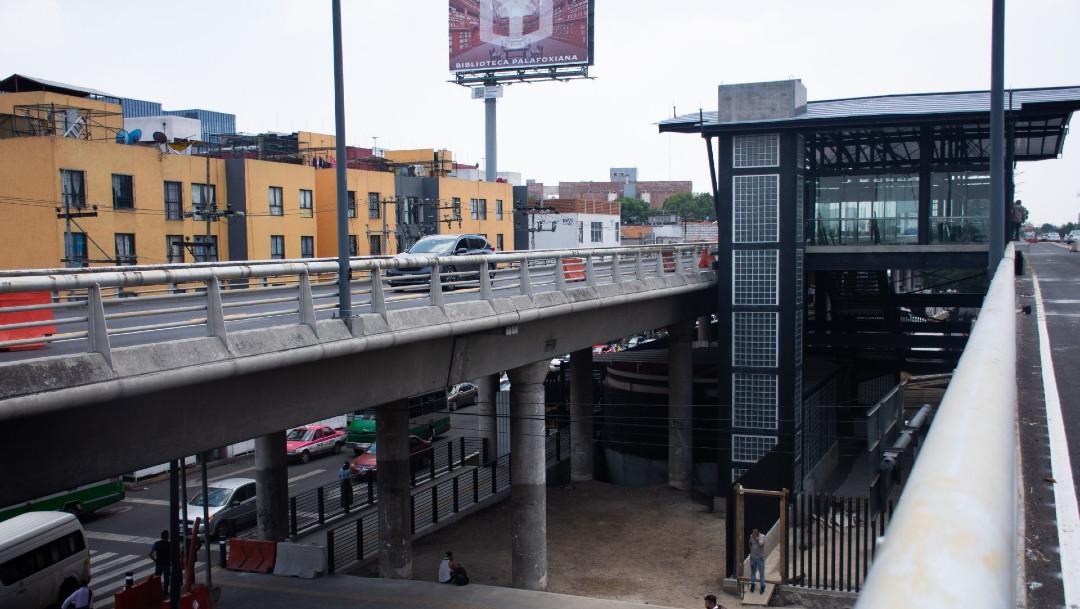 Estación Mixihuca, Metrobús, estación elevada