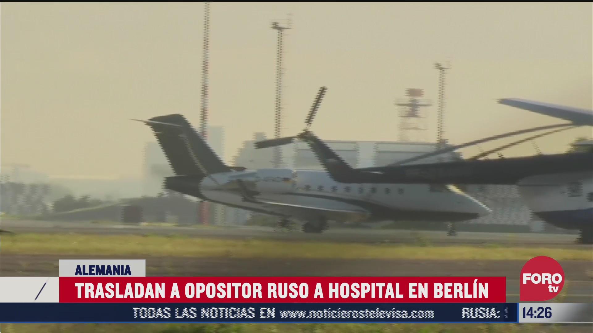 opositor ruso envenenado llega a berlin