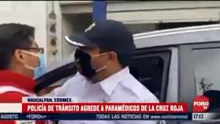 policia agrede a paramedico de la cruz roja