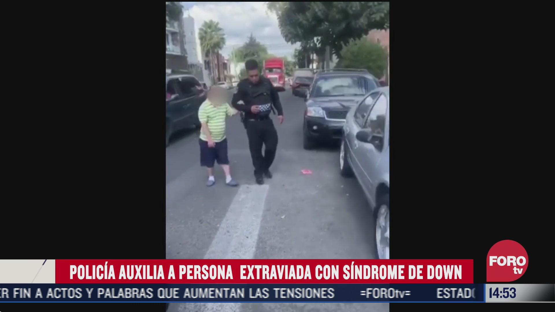 policia de cdmx auxilia a persona con sindrome de down extraviada