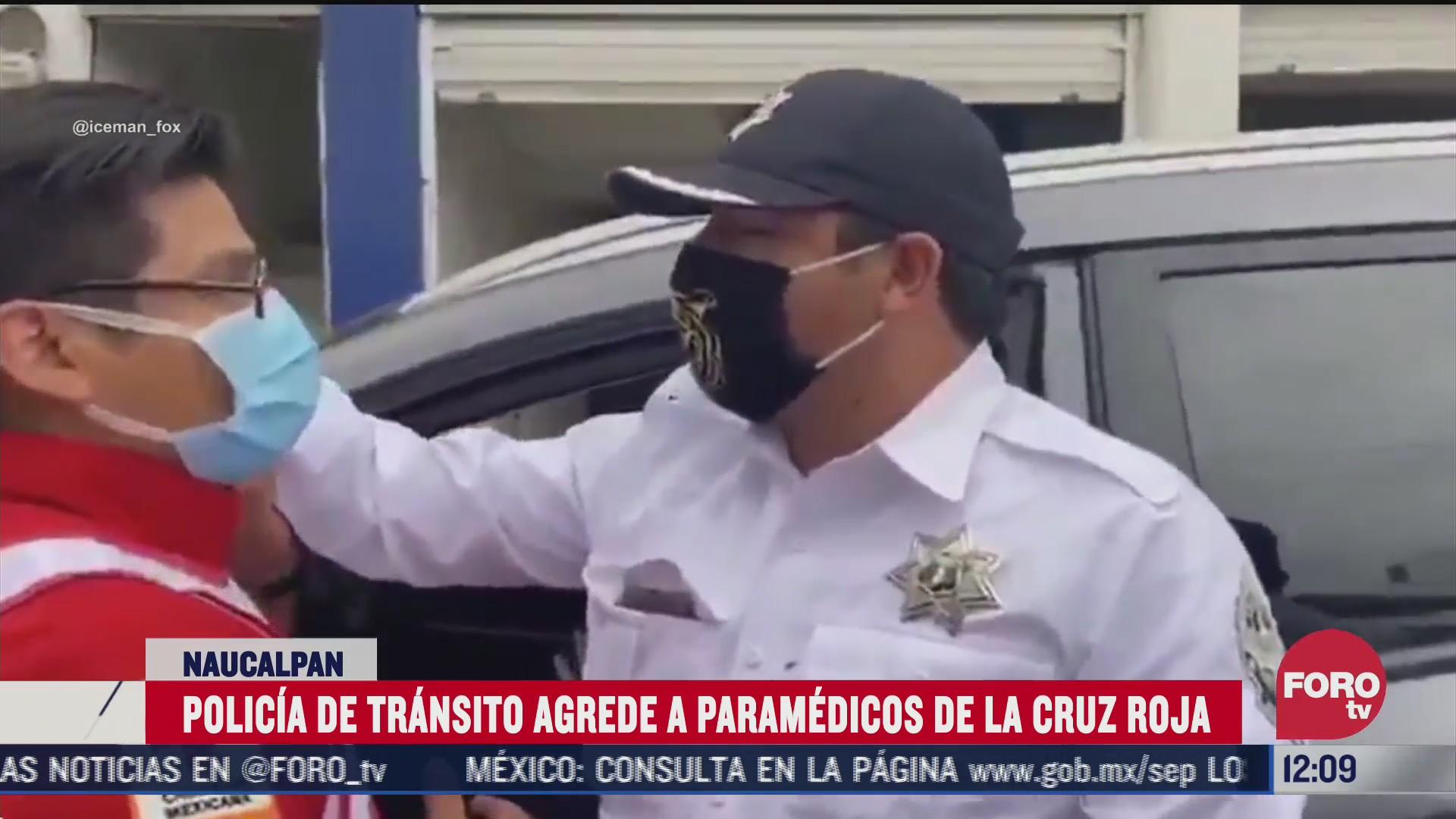 policia de transito agrede a paramedicos de la cruz roja