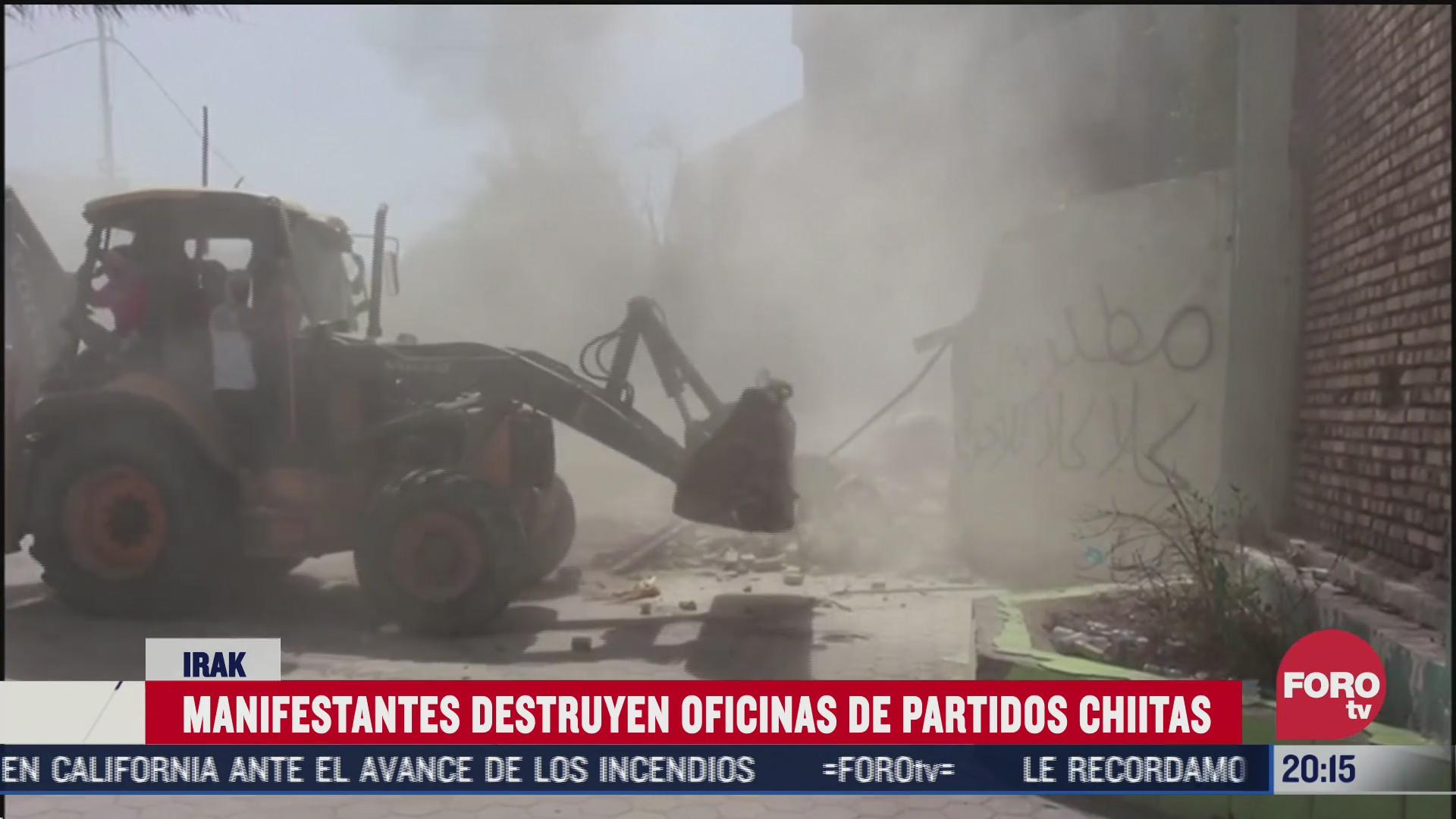 protestan en irak contra partidos chiitas