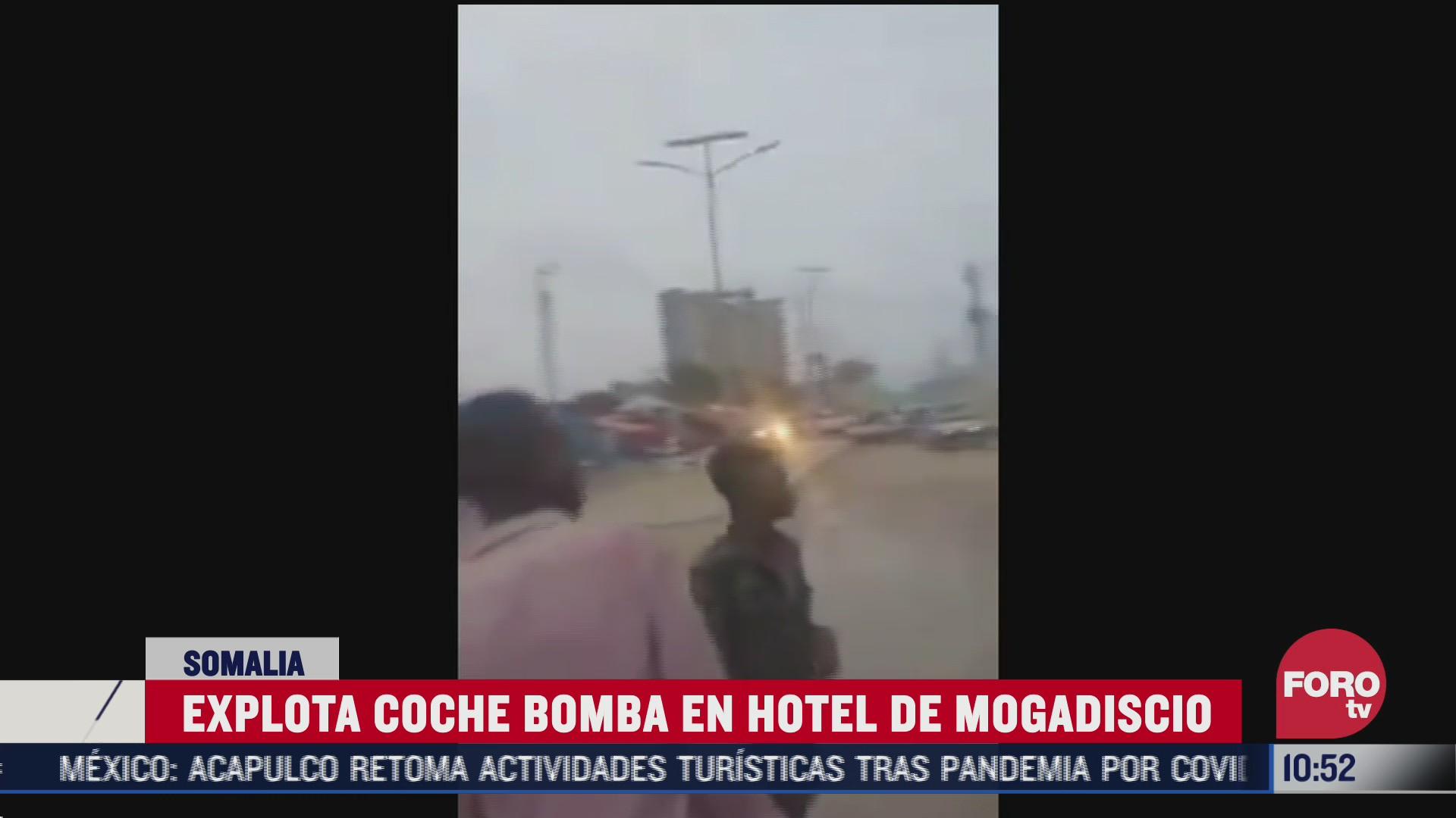 reportan explosion en un hotel de mogadiscio somalia