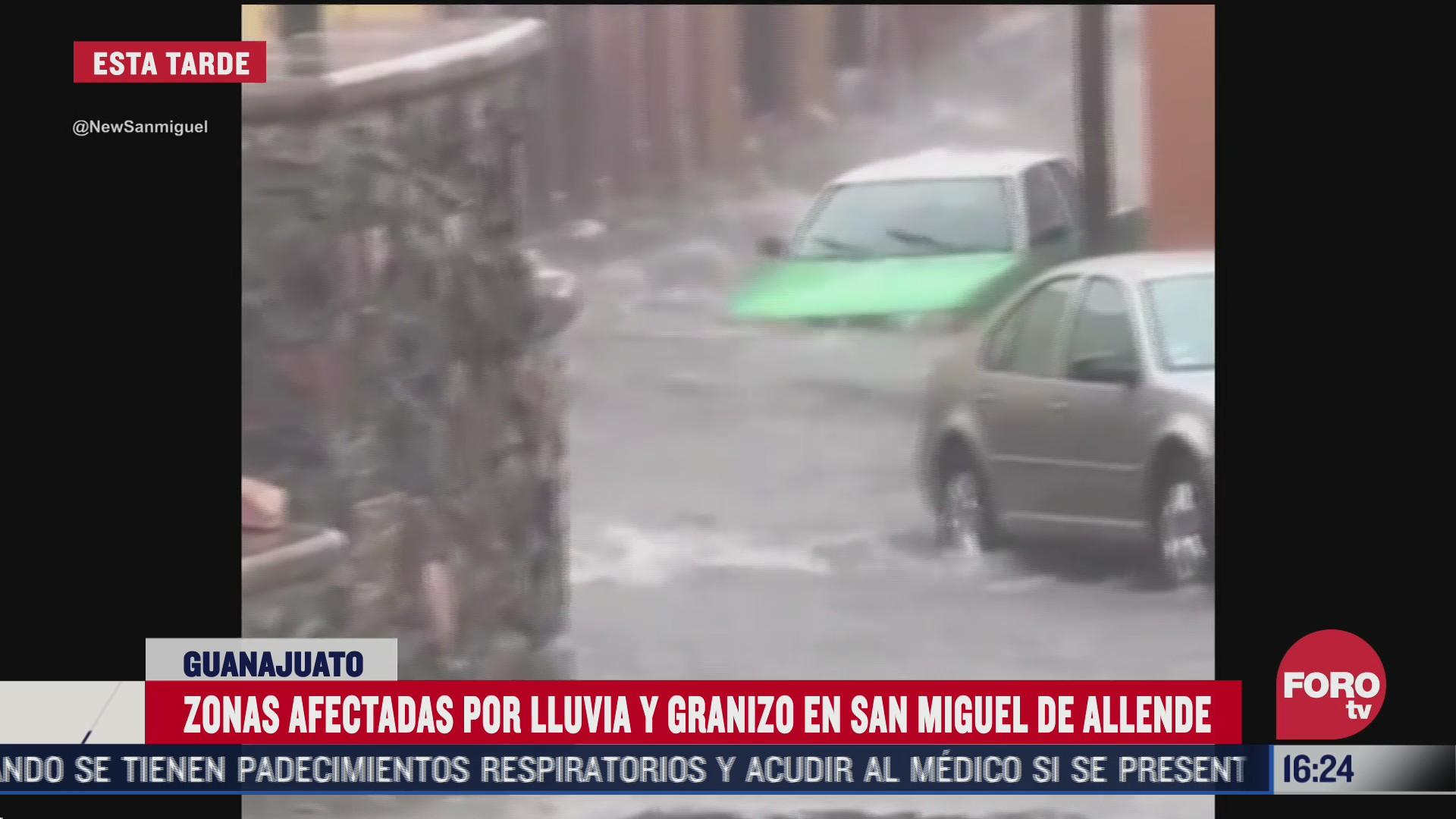 FOTO: 2 de agosto 2020, reportan fuerte lluvia en san miguel de allende