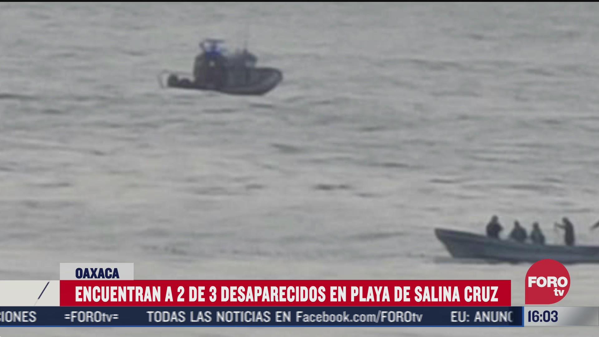 rescatan a desaparecidos en playa abierta oaxaca