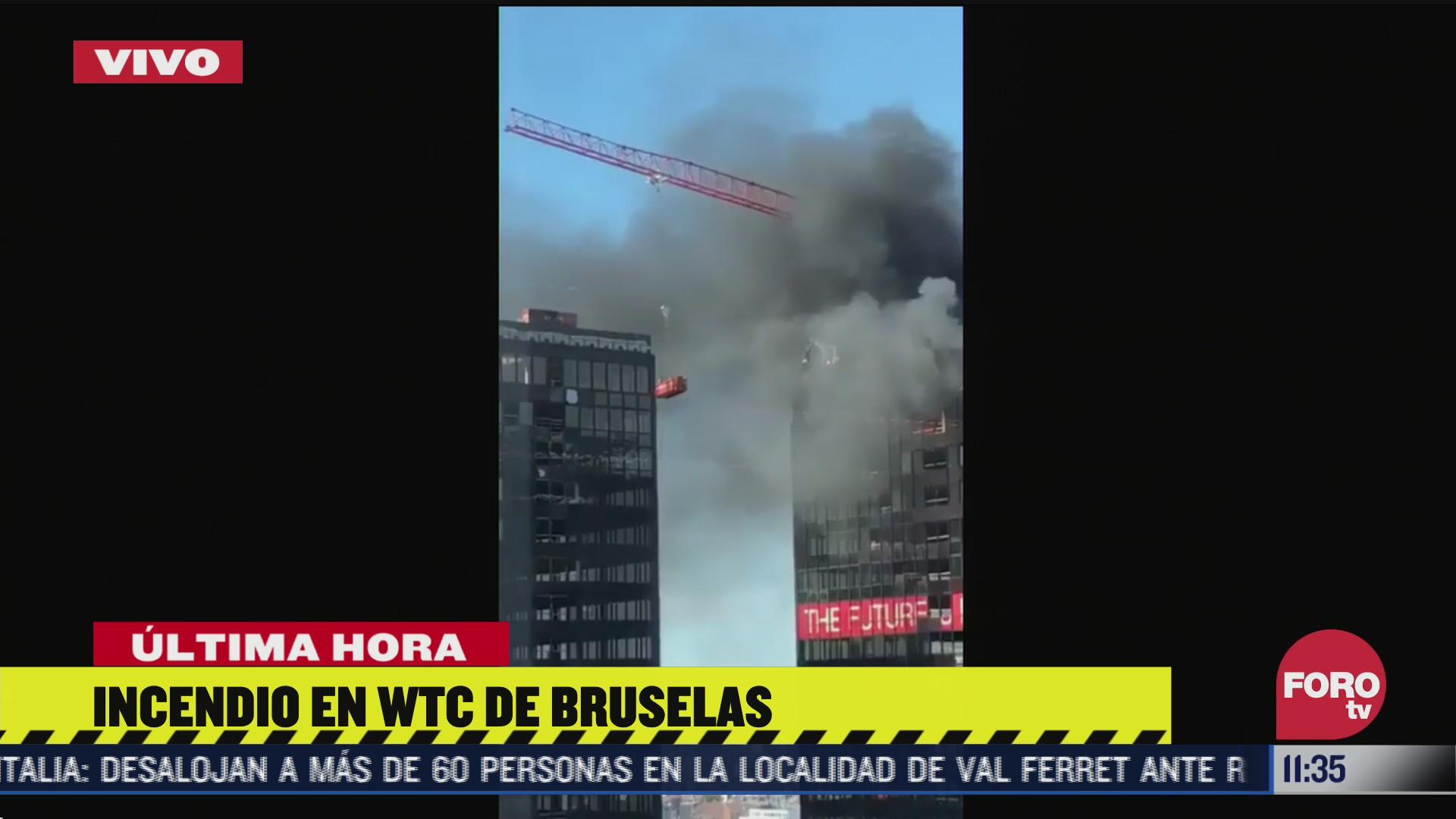 se incendia world trade center de bruselas belgica