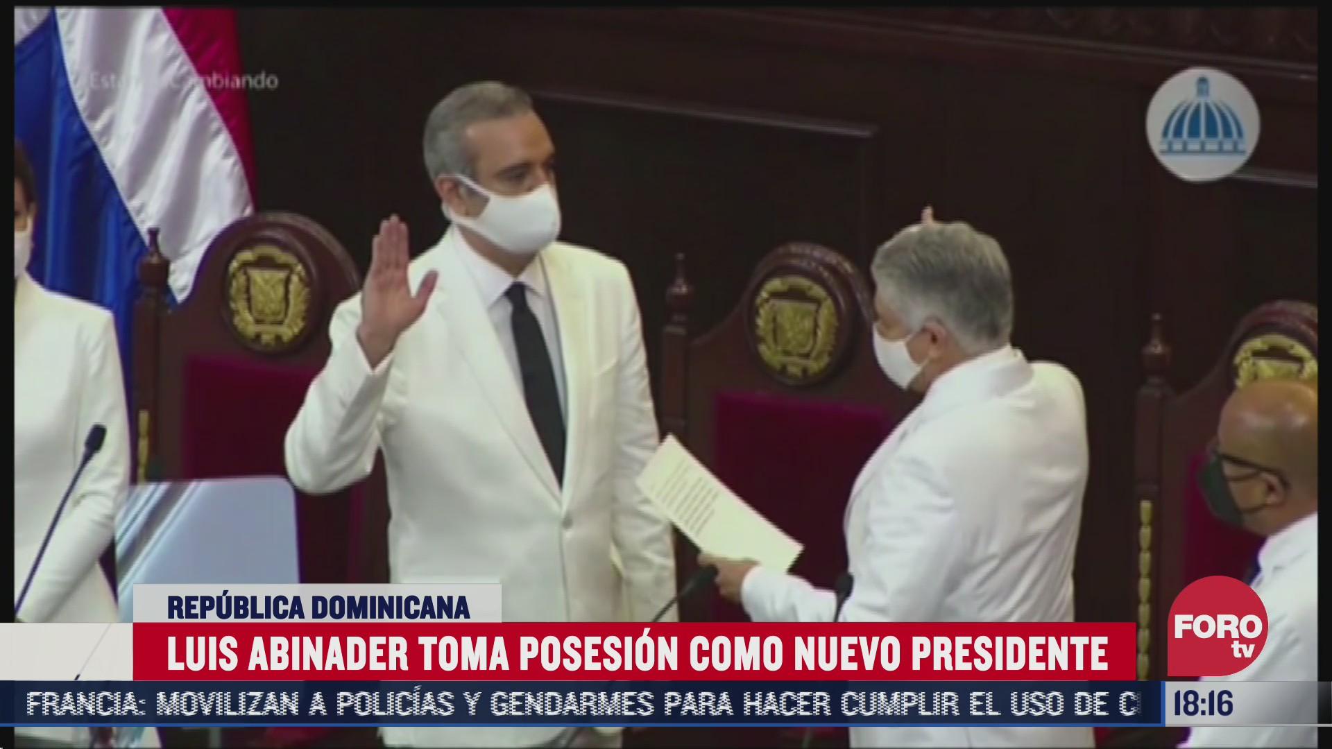 toma posesion nuevo presidente de republica dominicana