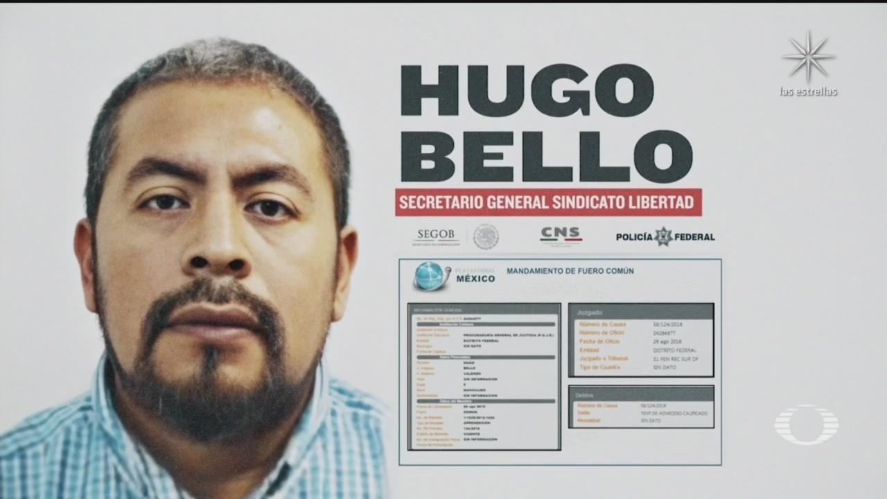 Hugo Bello, líder de la Confederación Libertad de Trabajadores de México, detenido y con las cuentas congeladas por la UiF
