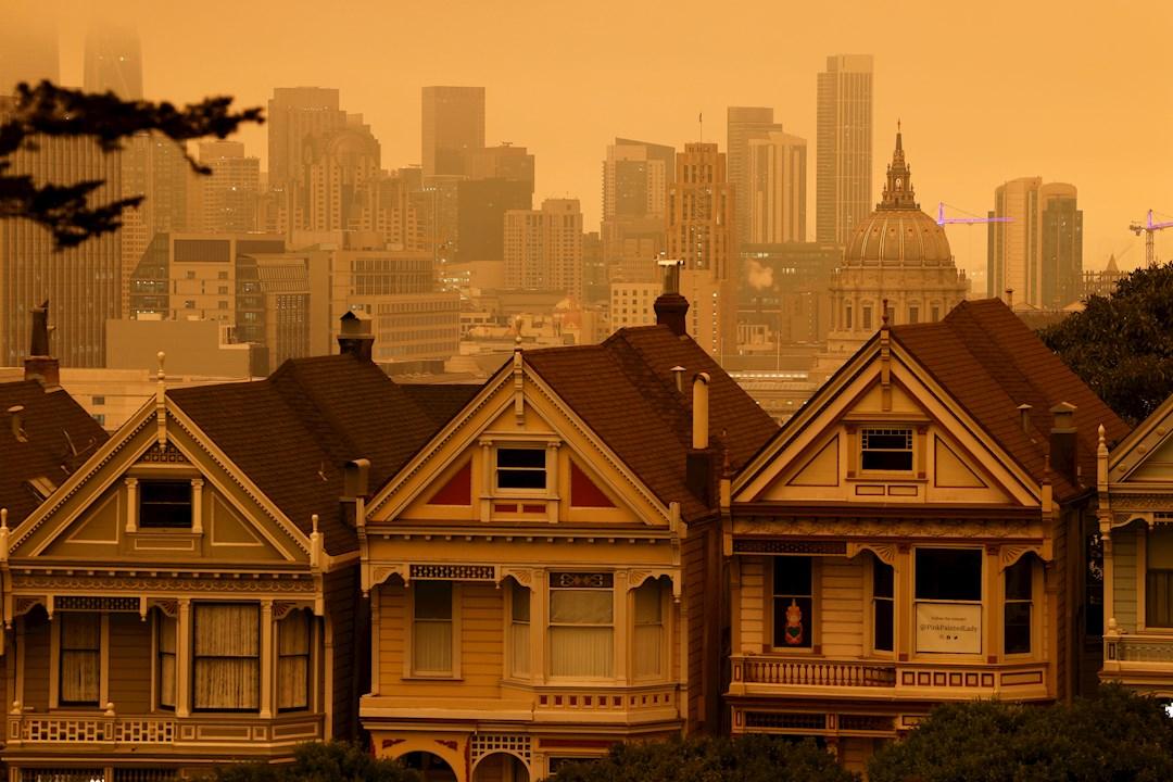 Fotos: El cielo naranja de California por los incendios