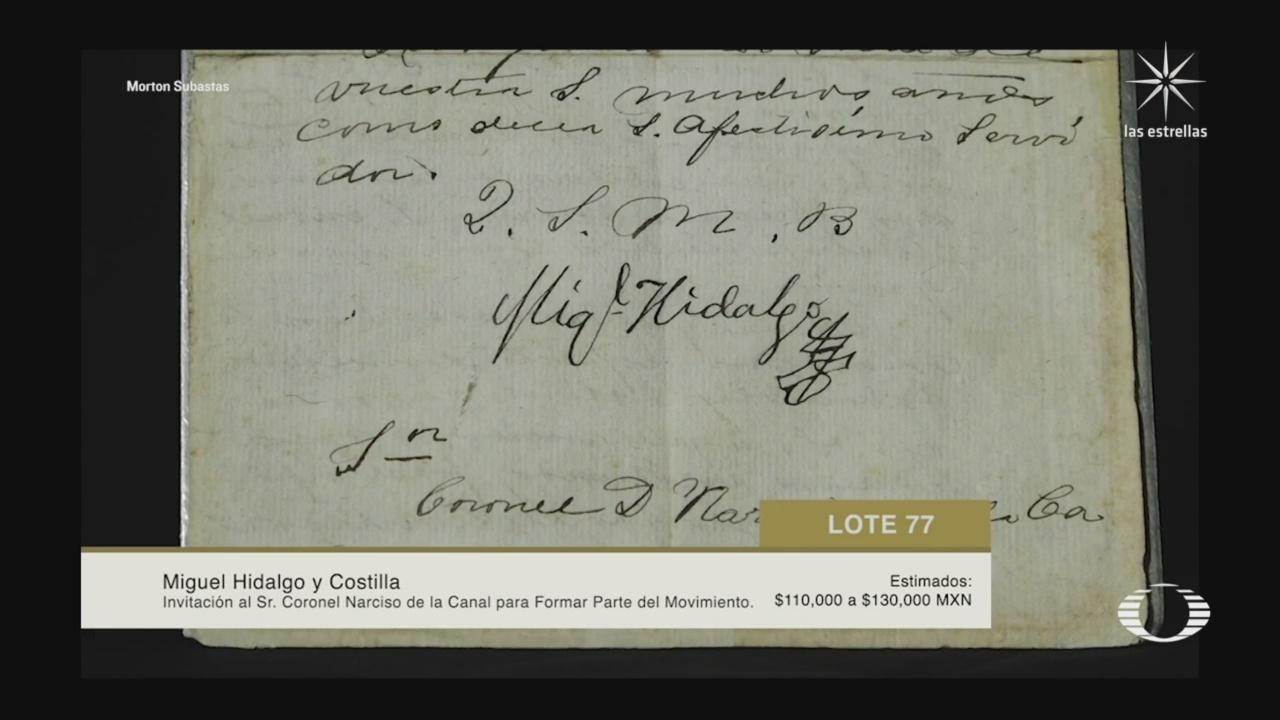 subasta de documentos históricos de México en el extranjero por la casa Morton