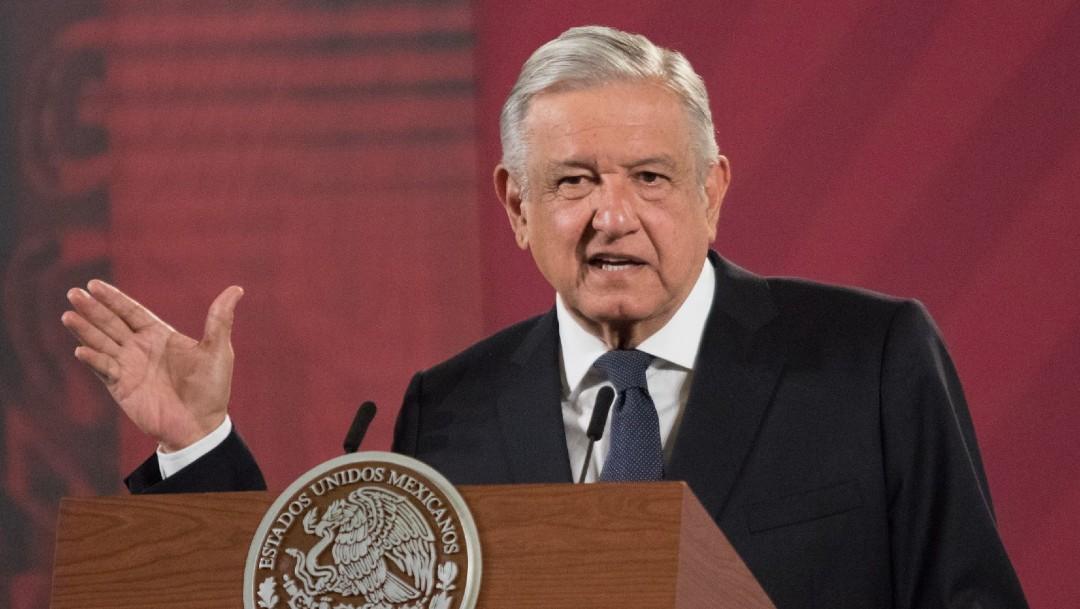 Andrés Manuel López Obrador en conferencia matutina