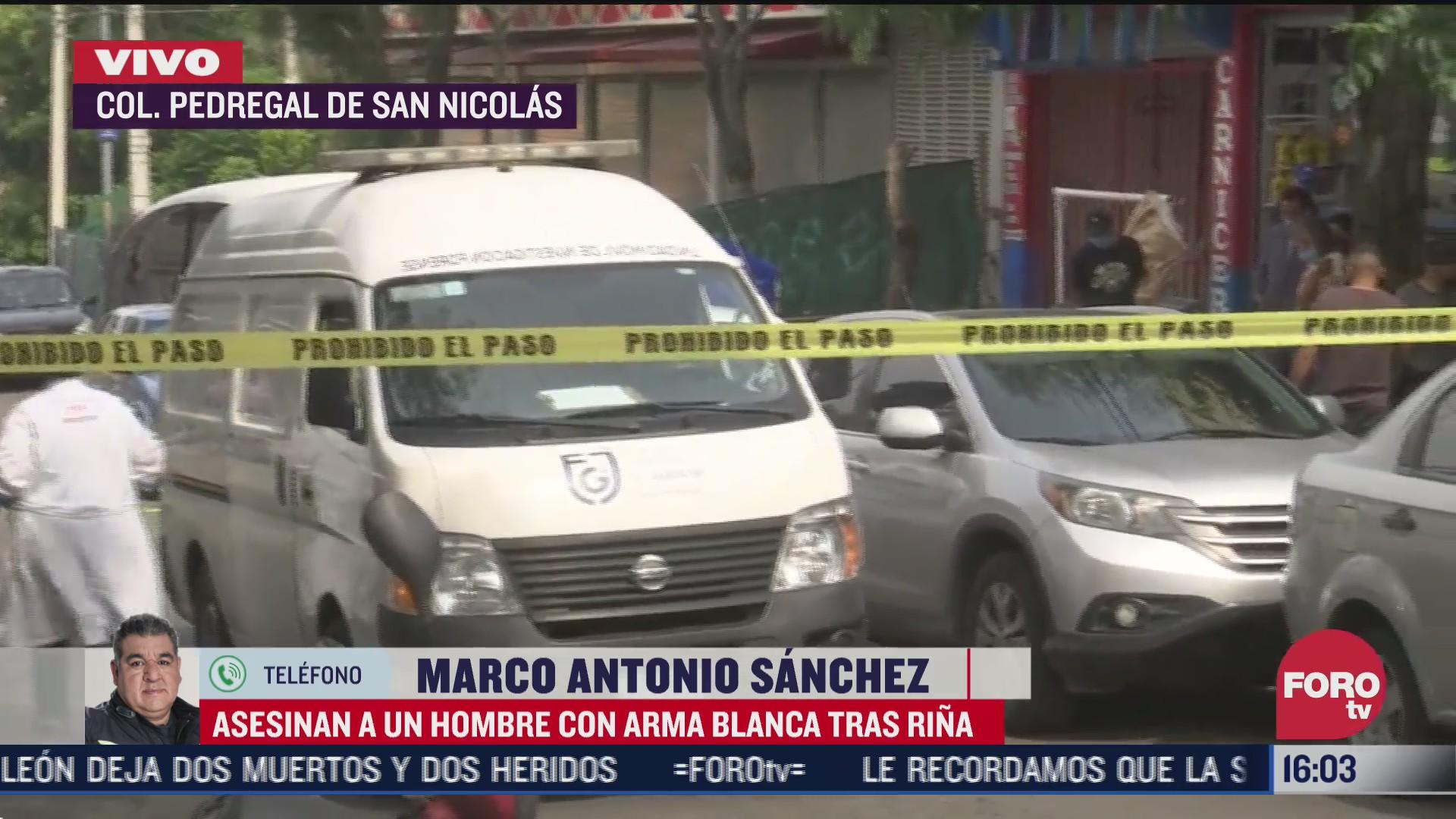 asesinan a un hombre con arma blanca tras rina en cdmx