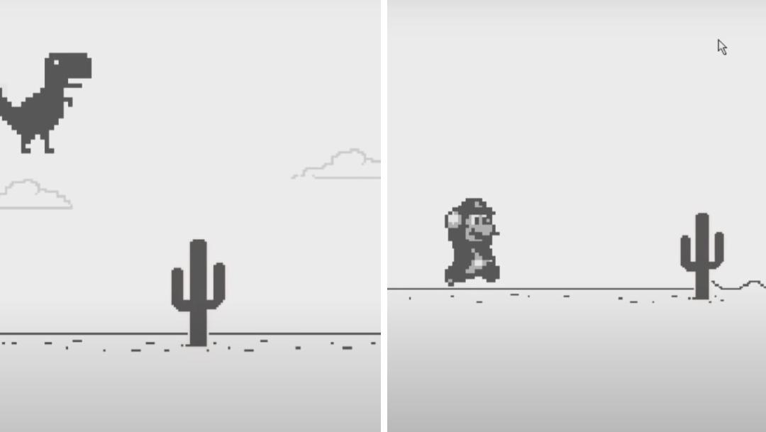 Cómo reemplazar al dinosaurio de Google Chrome para jugar Super Mario Bros