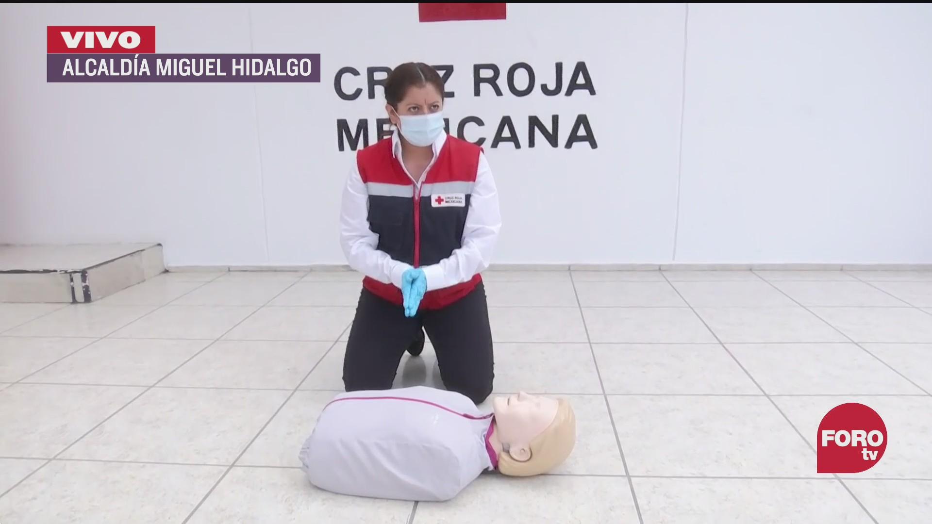 cruz roja mexicana ensena primeros auxilios basicos