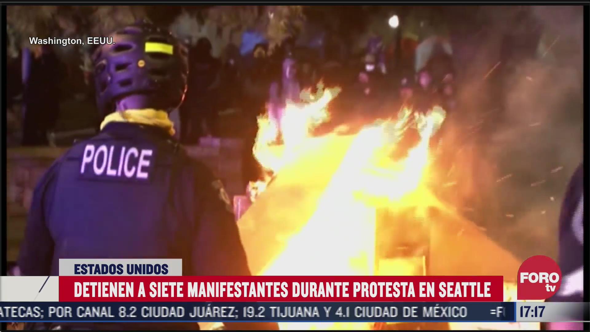 disturbios en seattle tras protesta contra violencia policial