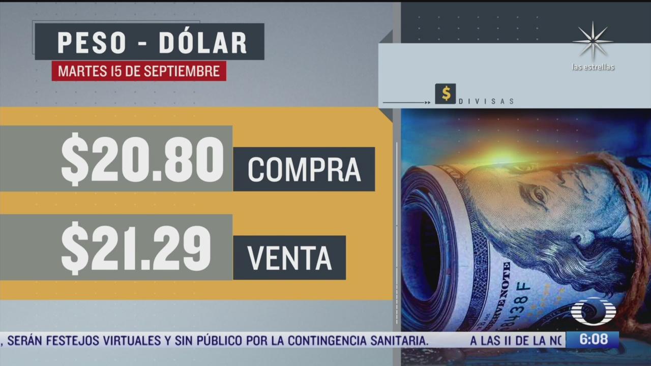el dolar se vendio en 21 29 en la cdmx
