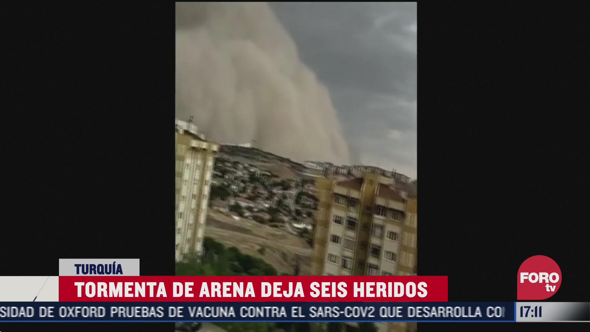enorme tormenta de arena deja heridos en turquia