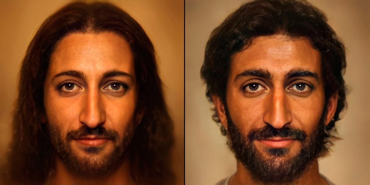 Recrean cara de Jesús con inteligencia artificial
