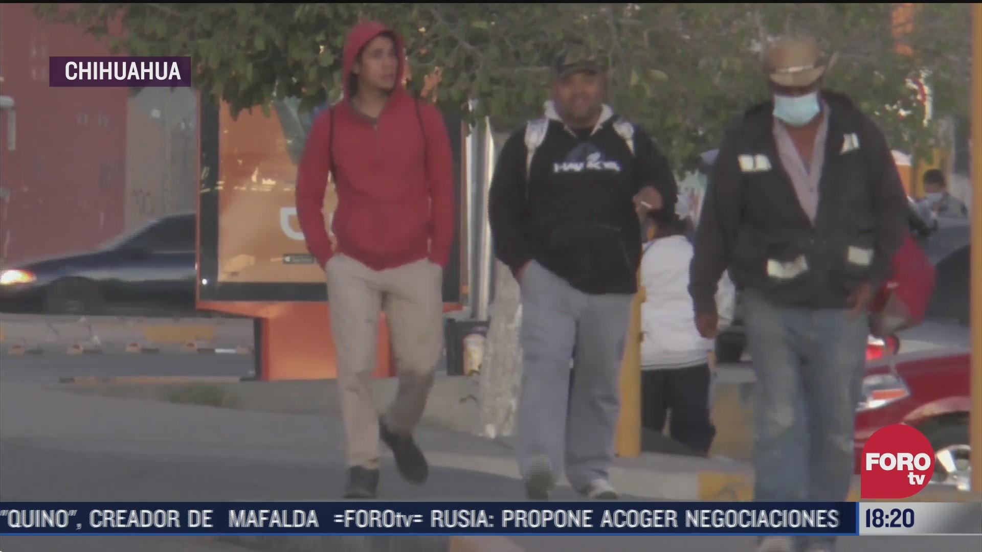 frente frio provoca temperaturas bajo cero en chihuahua