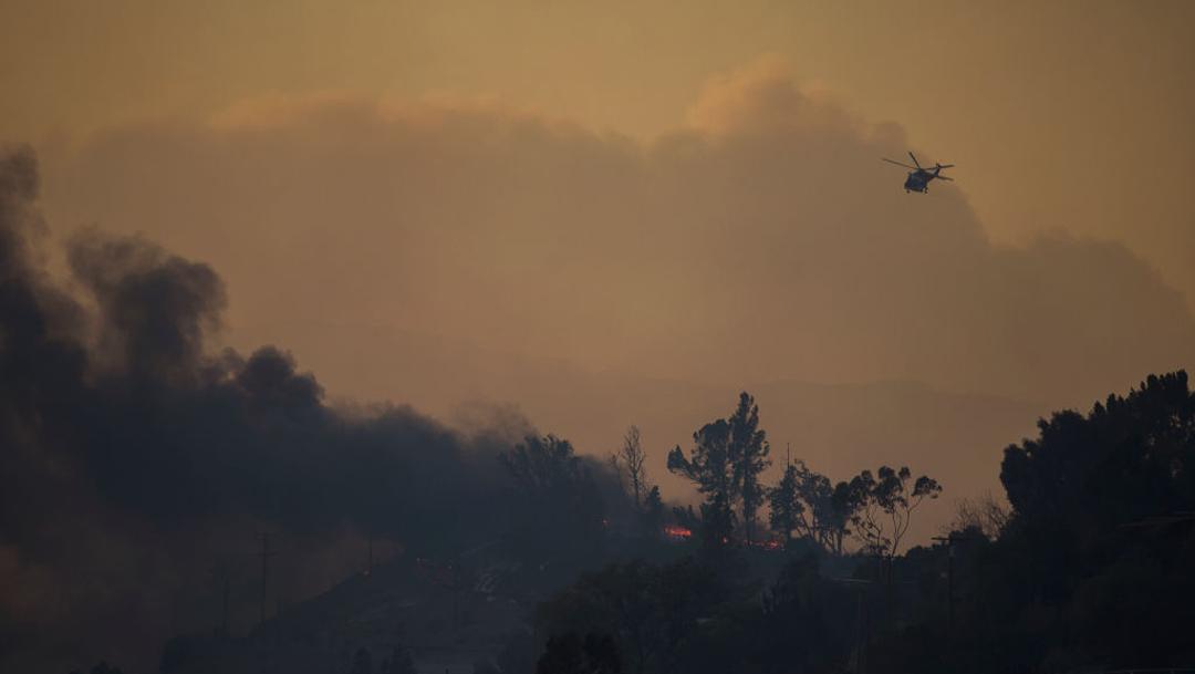 La nube de polvo provocada por el incendio en California deja la mayor nube de polvo