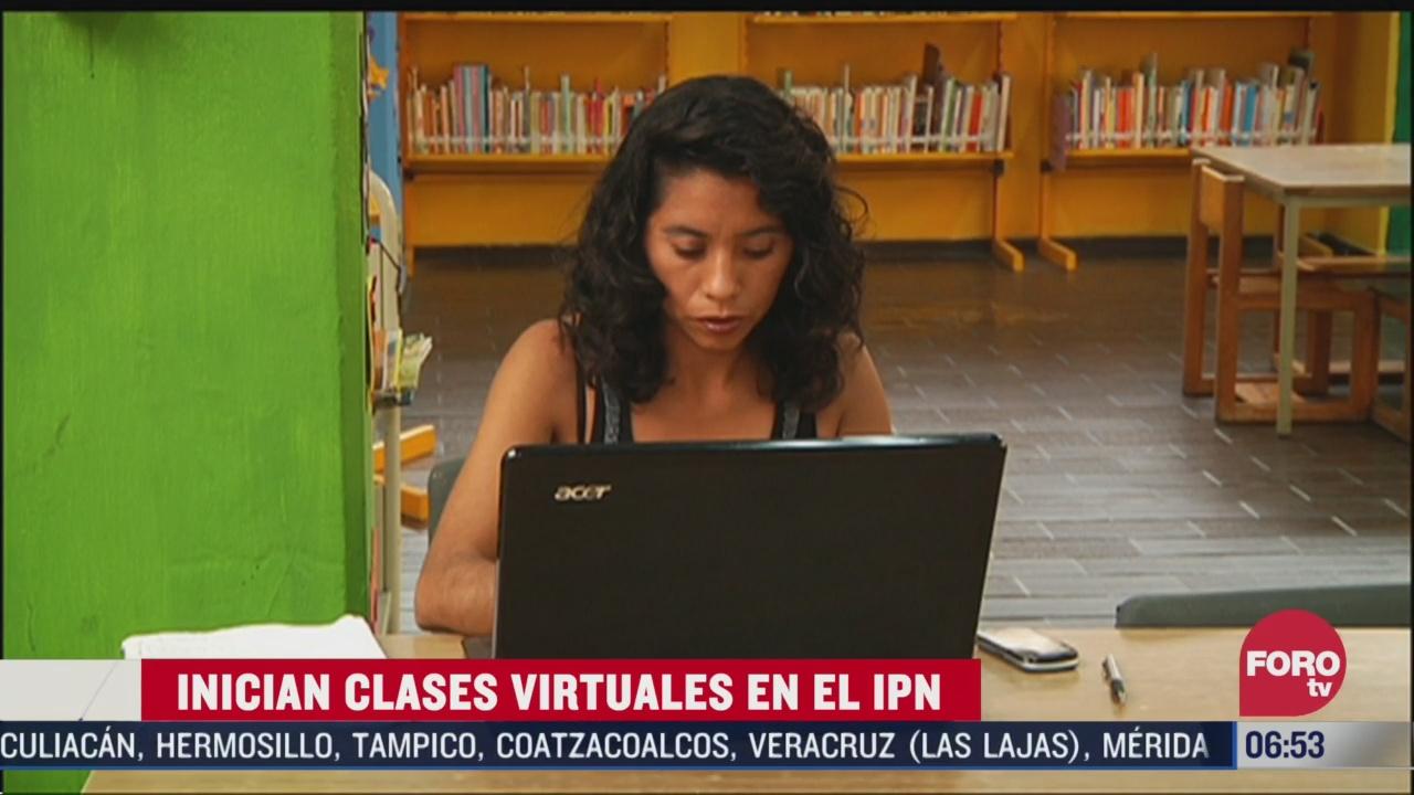 inician clases virtuales en ipn