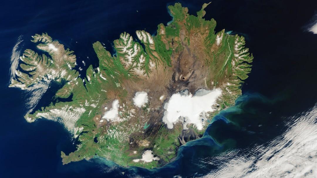 Sorprende imagen de Islandia tomada desde el espacio