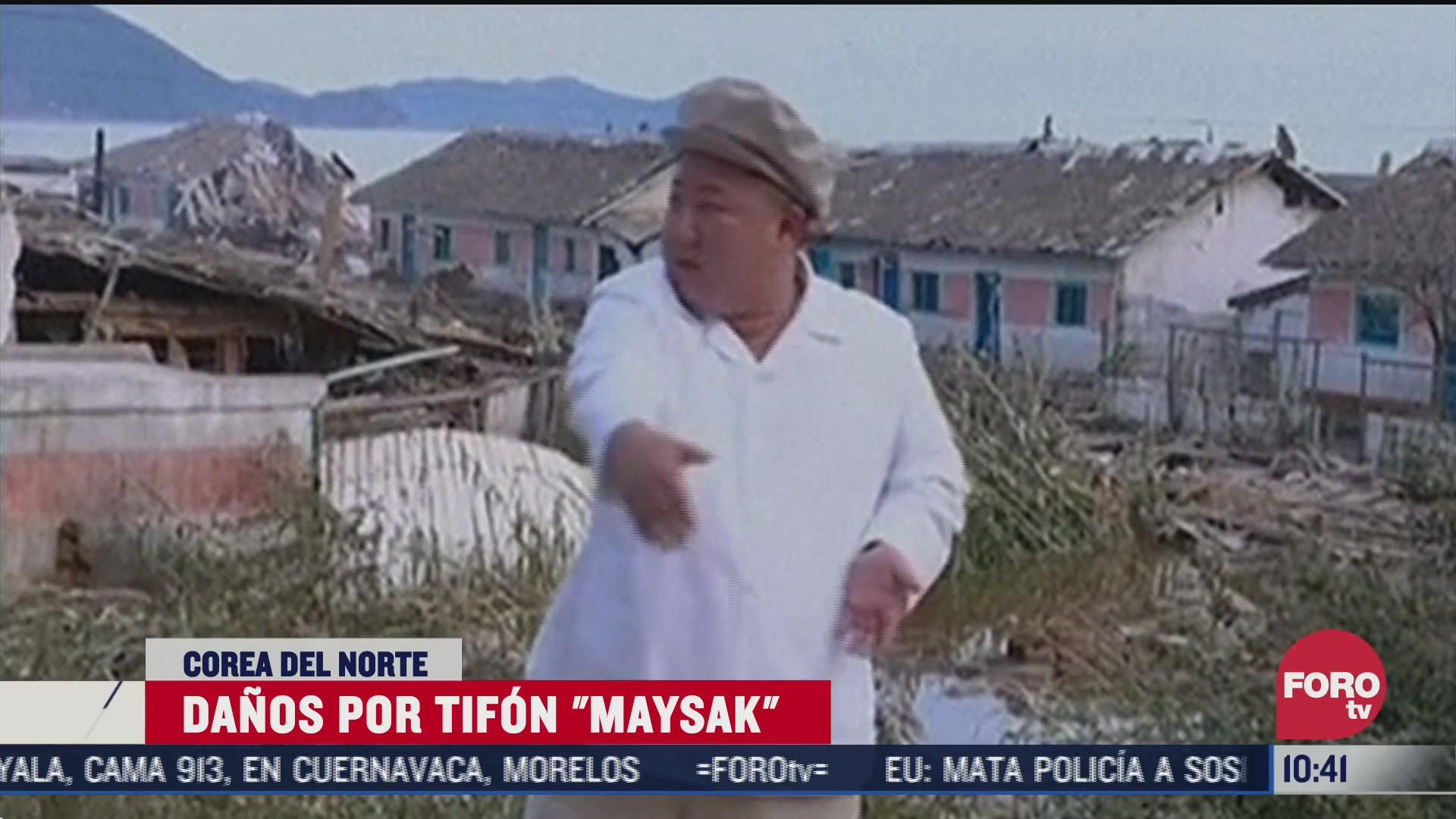 kim jong un ordena reparar danos por tifon en corea del norte