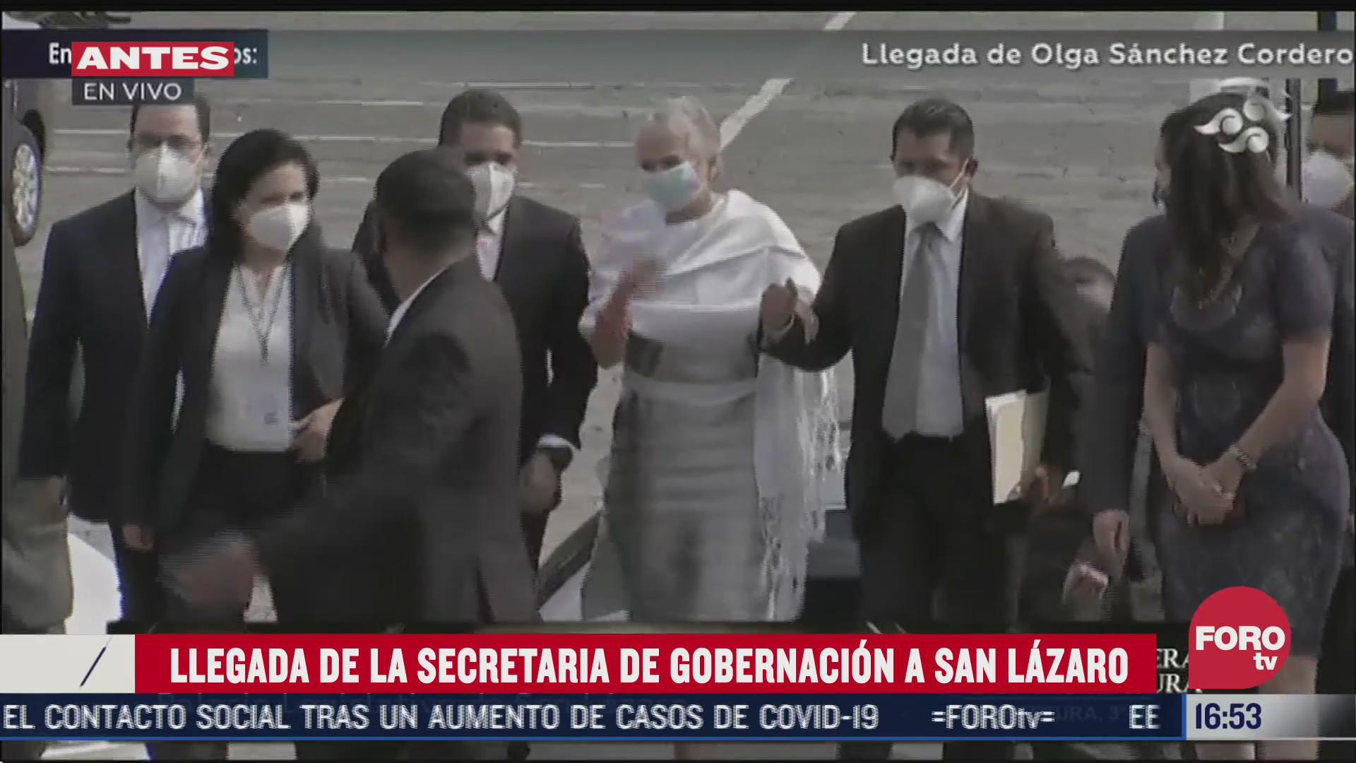 llega secretaria de gobernacion a san lazaro