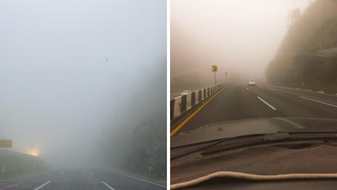 Fotos: Carretera México-Toluca se llena de neblina