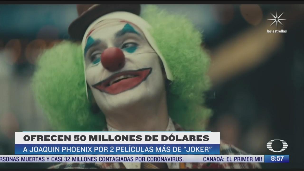 ofrecen 50 millones de dolares a joaquin phoenix por dos peliculas mas de joker