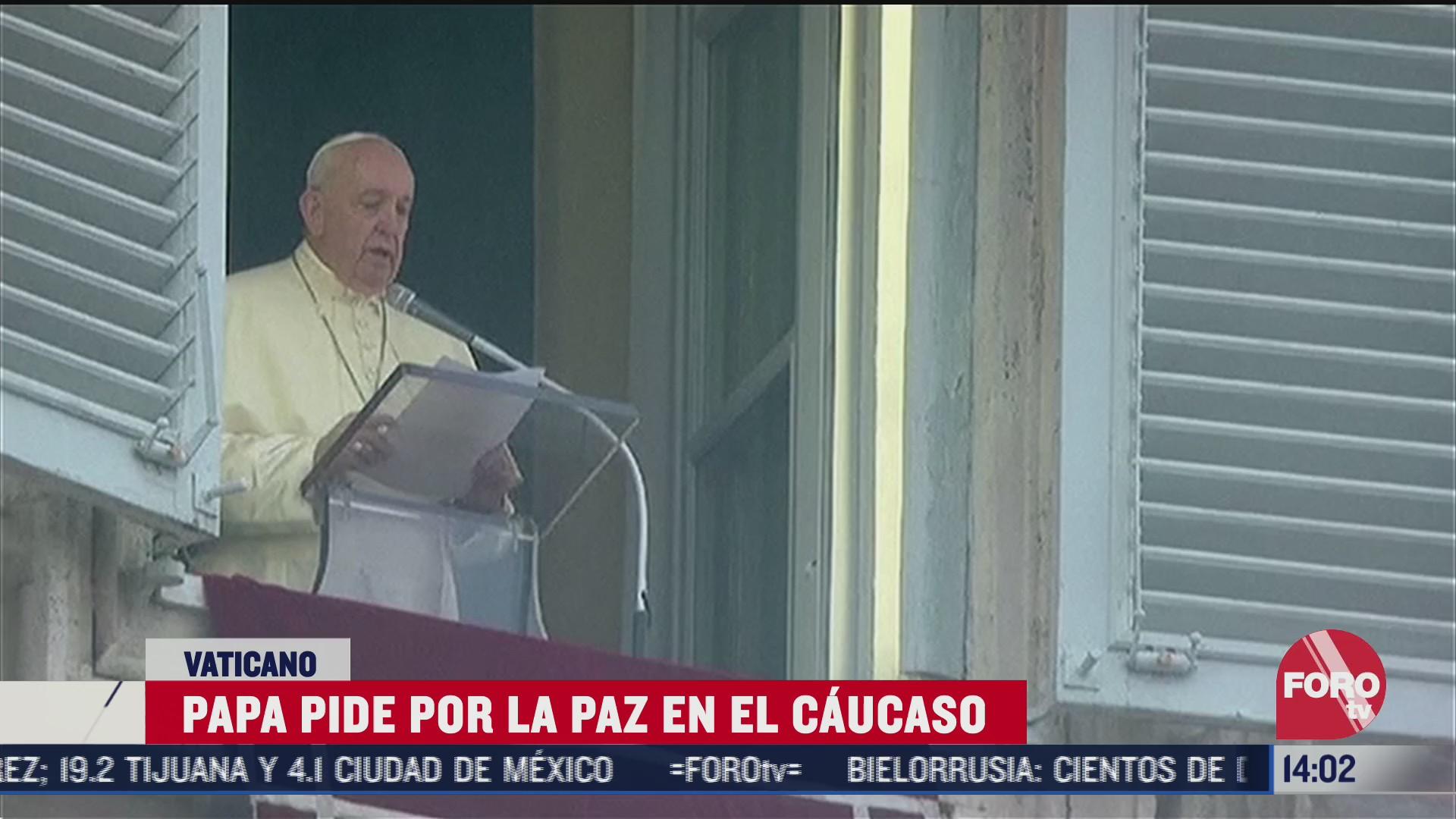 papa francisco pide paz entre armenia y azerbaiyan