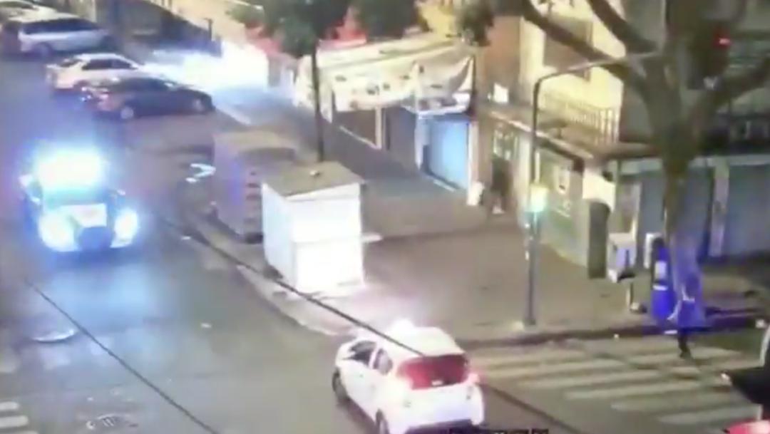 Patrulla Policía Atropella Ladrón CDMX