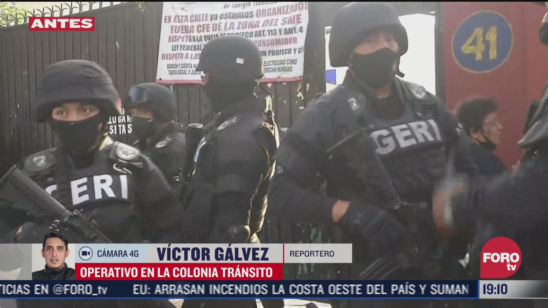 policia cdmx realiza operativo en la colonia transito