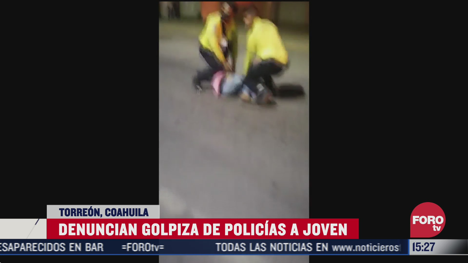 policias dan paliza a civil en coahuila