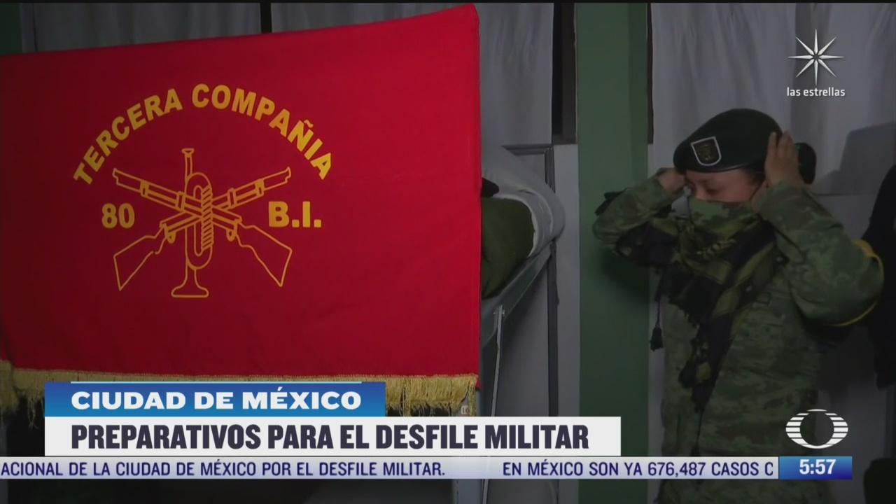 preparativos para el desfile militar en la cdmx