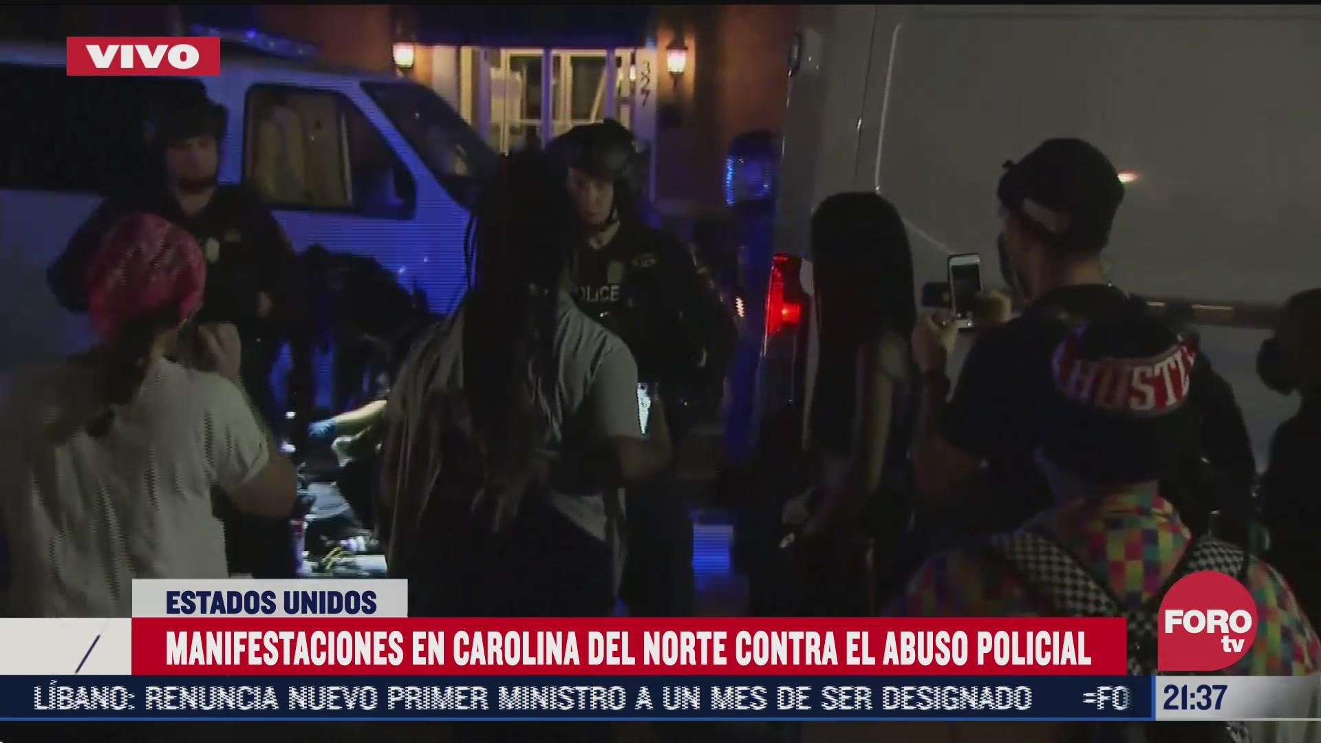protestan contra el abuso policial en carolina del norte