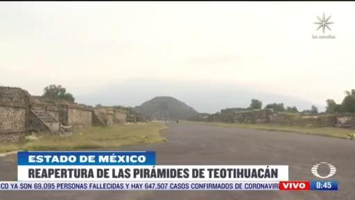 reabren piramides de teotihuacan en el estado de mexico