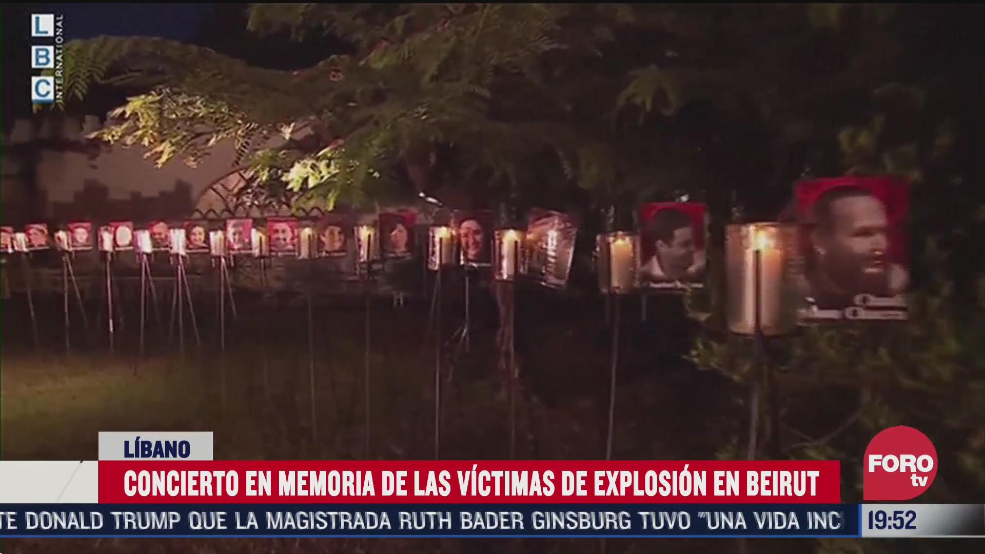 realizan concierto en memoria de victimas por explosion en beirut
