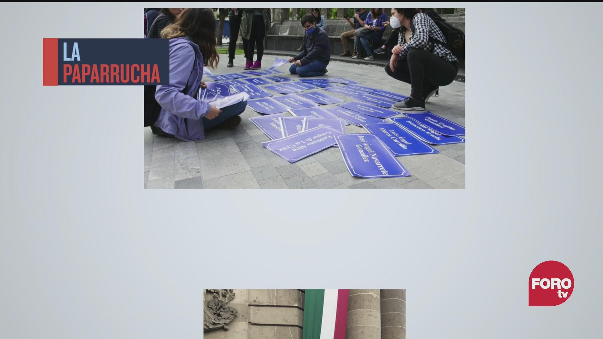 renombran calles del centro historico con nombres de los 43 normalistas es la paparrucha del dia