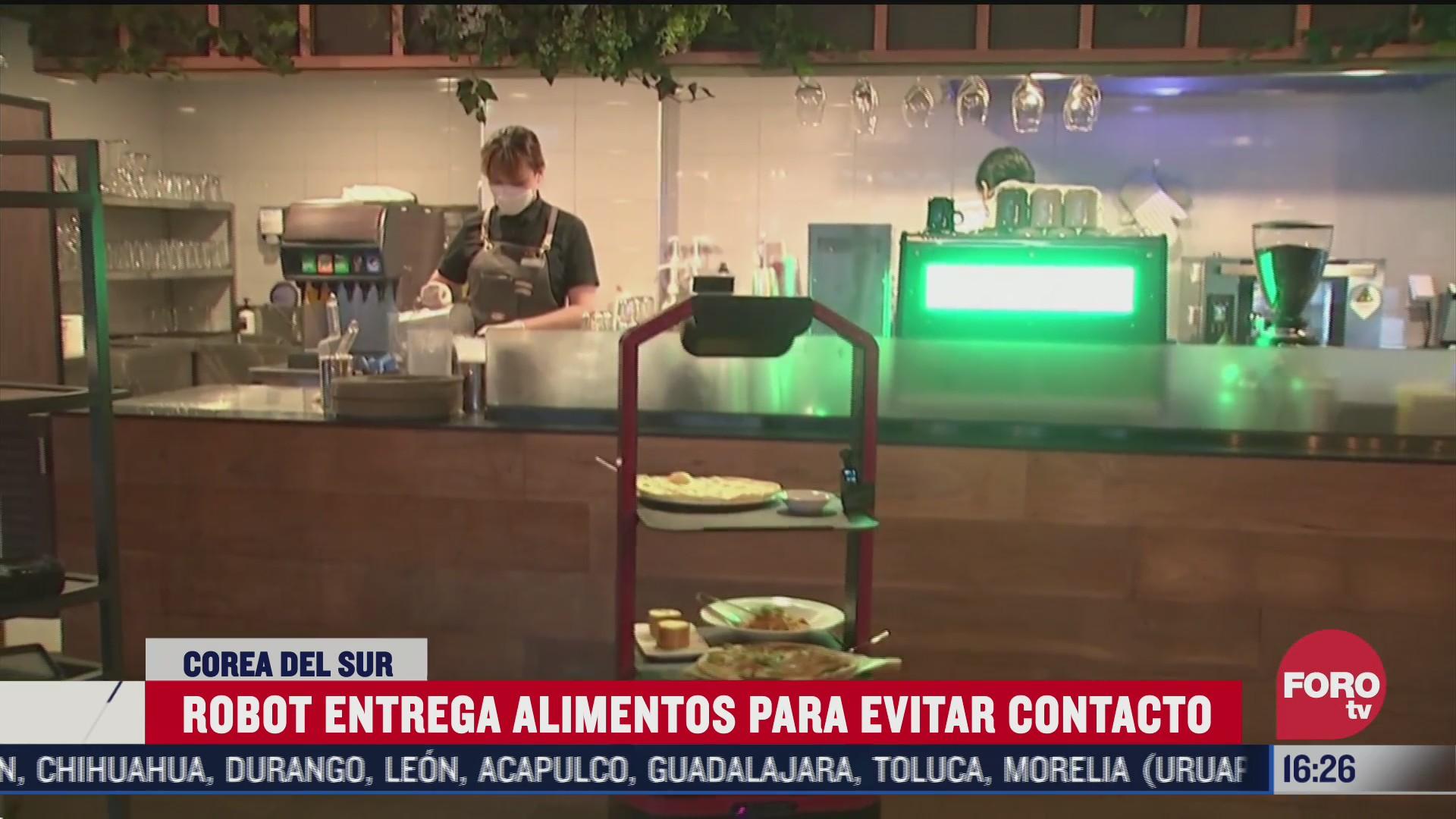 robot entrega comida en restaurante de seul