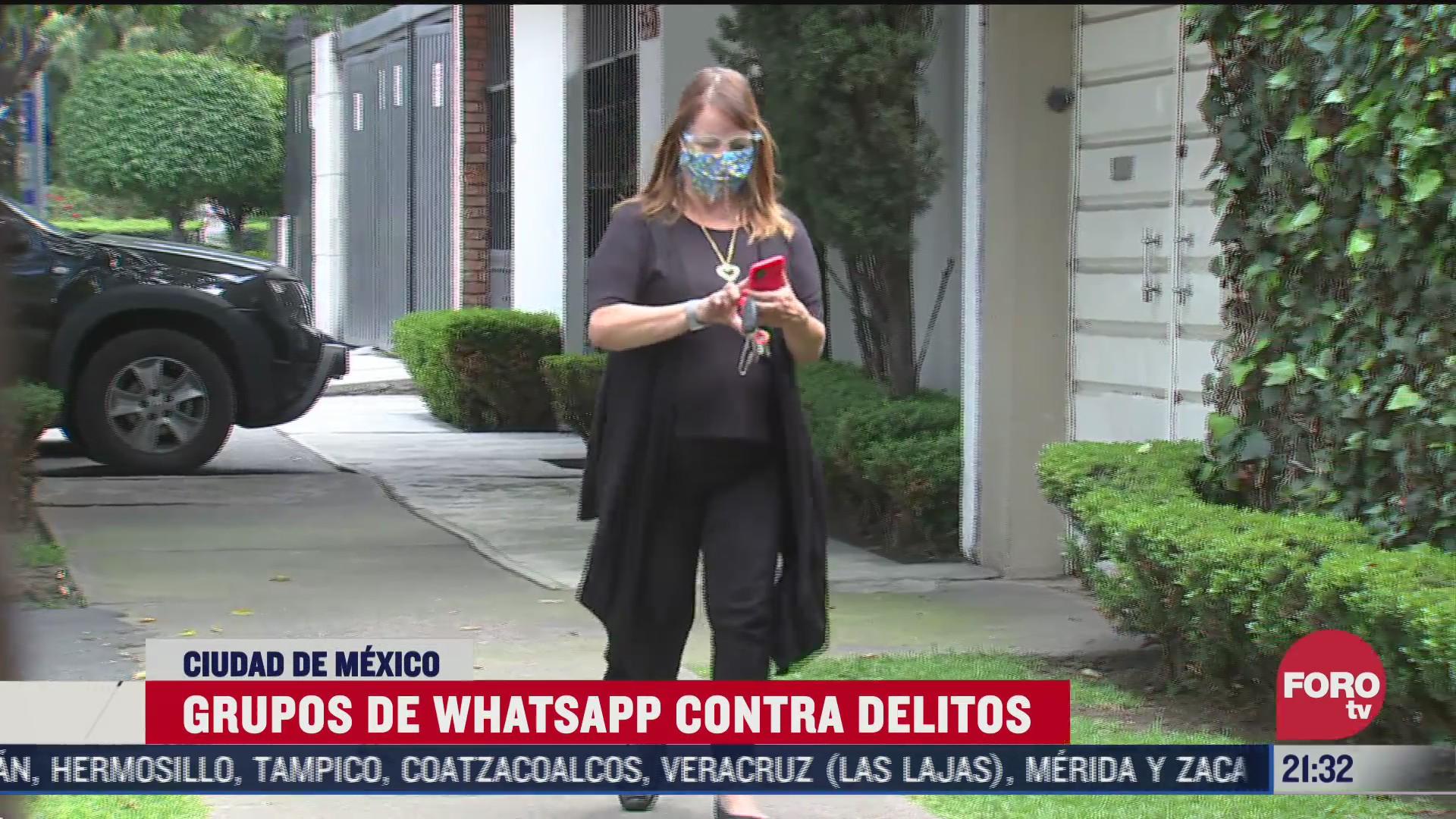 vecinos crean grupos de whatsapp contra la delincuencia en cdmx
