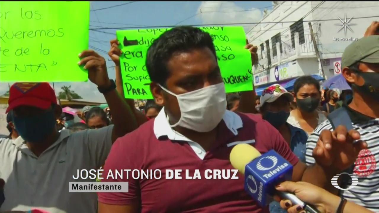 afectados por inundaciones en tabasco reactivan protestas