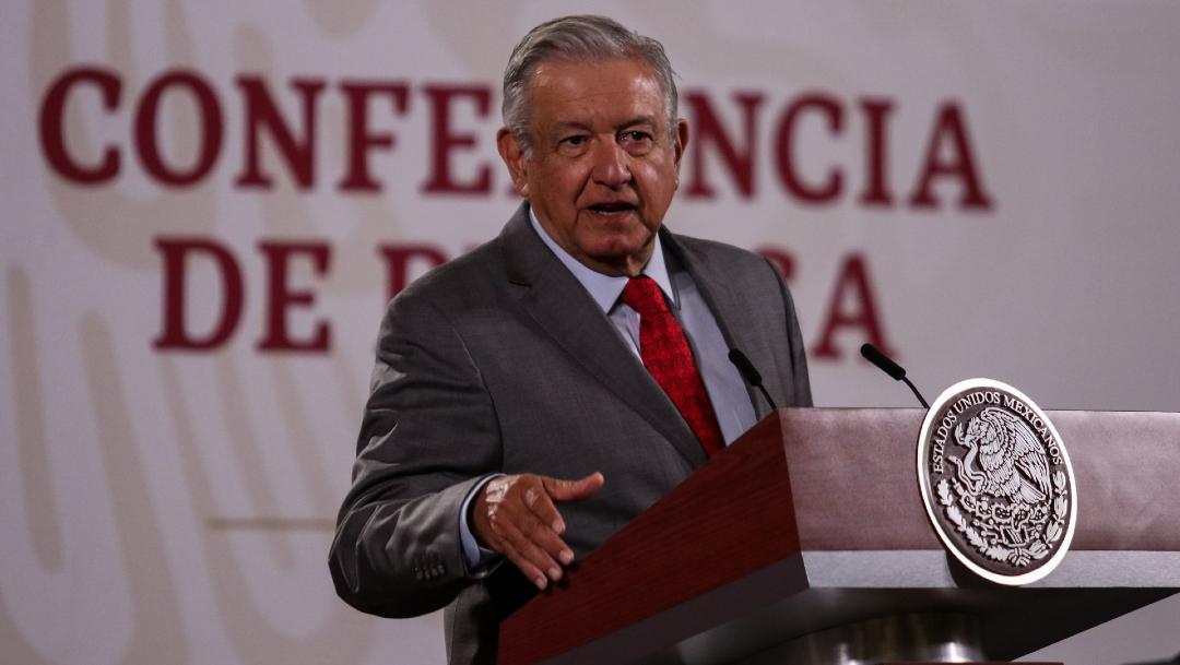 Andrés Manuel López Obrador, presidente de México, durante la conferencia matutina. (Foto: Cuartoscuro)